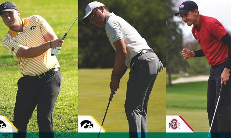 Iowa and Ohio State Claim Men's Golfer of the Week Honors
