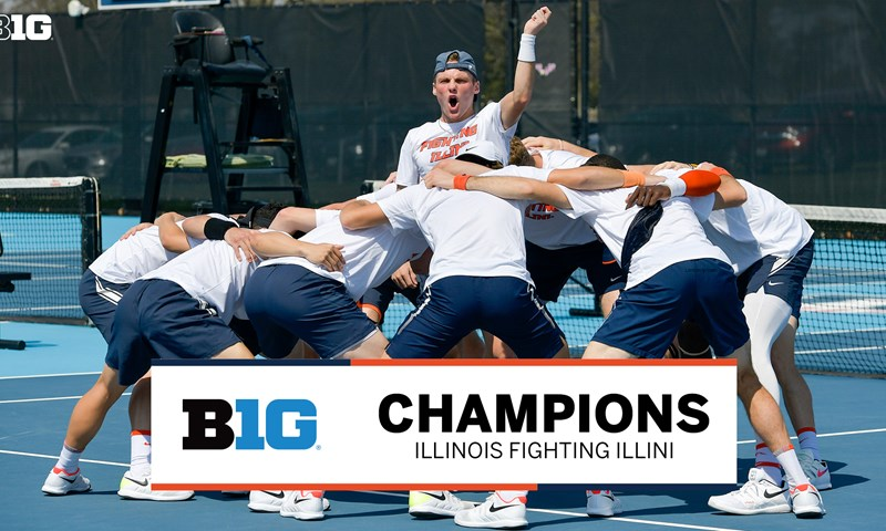 Illinois Clinches 2021 Big Ten Men's Tennis West Division Title