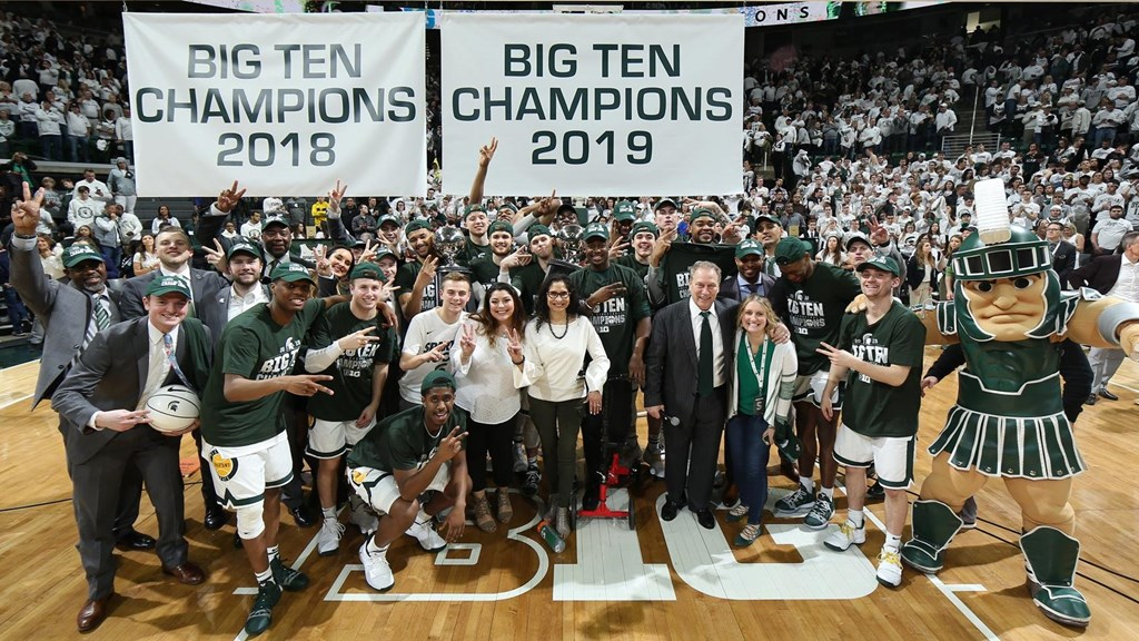 Michigan State Clinches A Share Of Big Ten Men S Basketball